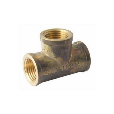 "6mm 1/4"" Brass Tee"