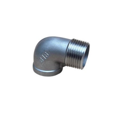 """6mm 1/4"""" Elbow M&F 90 Degree BSP Stainless Steel 316 150lb"""