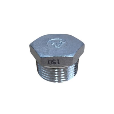 "6mm 1/4"" Plug Hex BSP Stainless Steel 316 150lb"