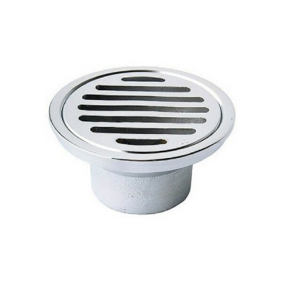 80mm X 50mm Shower Floor Grate Cp Round Drop In Suit Pvc