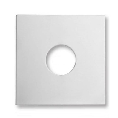 90mm Square Tilers Boo Boo Cover Plate Chrome Metal
