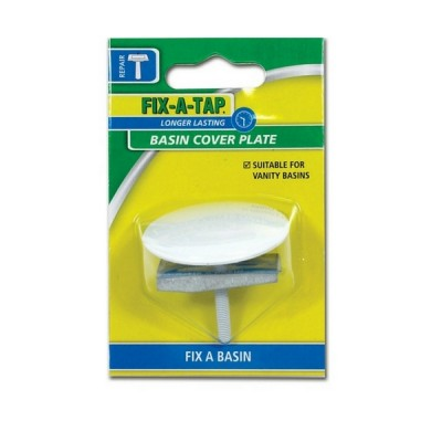 Basin Button White Fixatap 231284