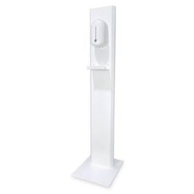 Bradley 68010 Free Standing Clean Hands Sanitizer Stand White Powder Coated Steel