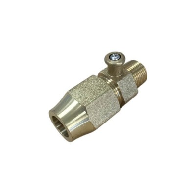 "Bromic Test Point Adaptor 3/8"" Bsp Male X 1/2"" Flare 6160675"