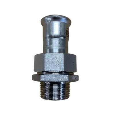 "28mm x BSP 1"" Male Union Socket Press Stainless Steel"