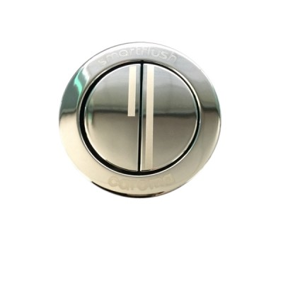Caroma 415028C Round Cistern Button & Bezel Dual Flush Chrome