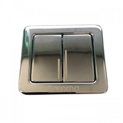 Caroma Cube Urbane Cistern Button Dual Flush Chrome 687076C