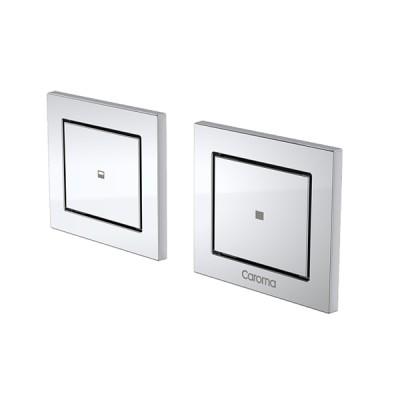 Caroma Invisi II Inwall Cistern Dual Flush Custom Button Chrome 237023C
