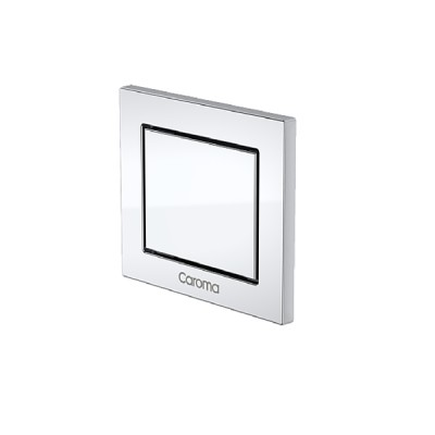 Caroma Invisi II Inwall Cistern Rectangle Single Flush Custom Button Chrome 237022C