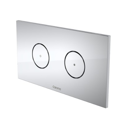 Caroma Invisi II Inwall Cistern Round Dual Flush Button Chrome 237010C