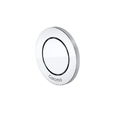 Caroma Invisi II Inwall Cistern Round Single Flush Custom Button Chrome 237012C