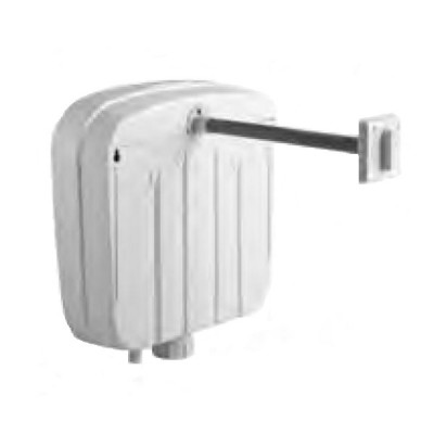 Caroma Slimline Induct Cistern Plastic Single Flush 233034W