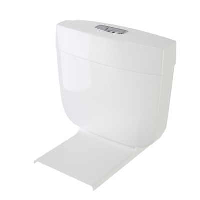 Caroma Slimline White Dual Flush Connector Toilet Cistern & Seat 4.5/3 Litre 233030W