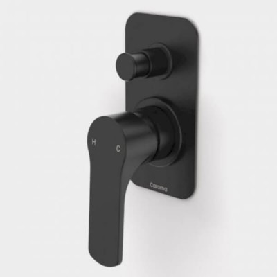 Caroma Urbane Bath Shower Mixer Diverter Matte Black 98585B