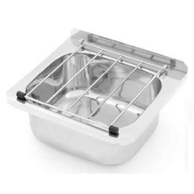 Cleaners Sink Stainless Steel With Grate & Brackets AB-CS-B