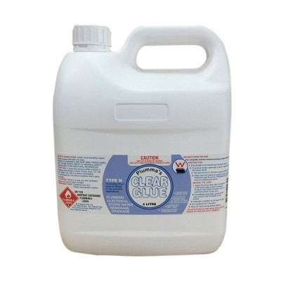 Clear Solvent Cement Type N Non Pressure 4 Litre