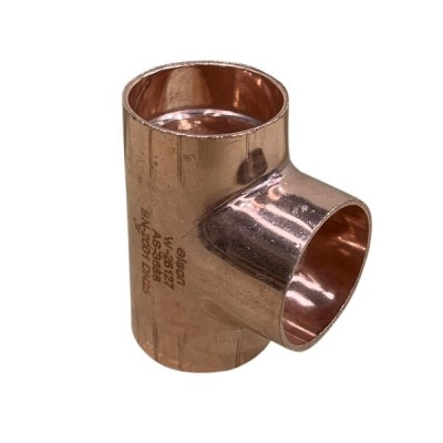 """15mm 1/2"""" Copper Capillary Tee Equal W24"""