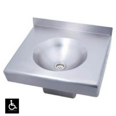 Disabled Care Wall Hand Basin Square 500 Stainless Steel HBD-S