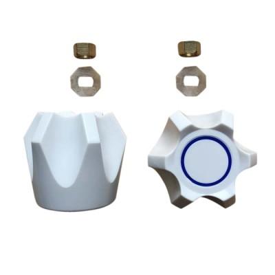 Dorf Diamond Tap Handles Acrylic White (Pair)