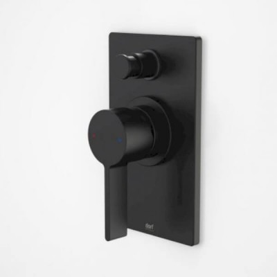 Dorf Enigma Bath Shower Mixer Diverter Matte Black Square 6483.9