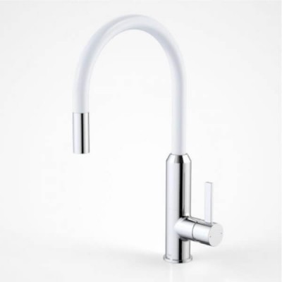 Dorf Vixen Retractable Sink Mixer White 6496.044A