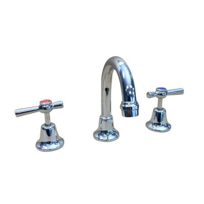 Easy Clean Lever Basin Set 1/4 Turn Ceramic Disc Swivel Outlet EL1137