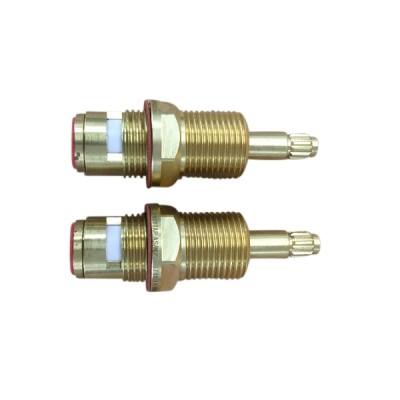 Easytap TZ2015 1/4 Turn Brass Wall Spindles Irwell 12 Teeth (Pair)