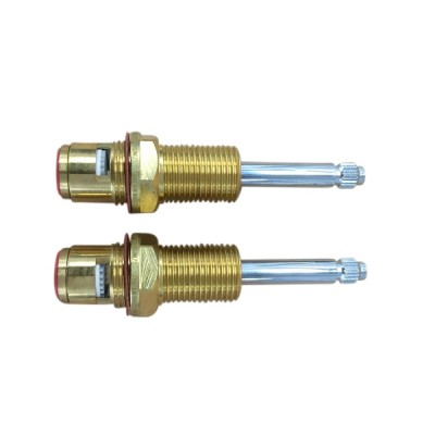 Easytap TZ2027CON 1/2 Turn Contra Rotate Chrome Wall Spindles 20 Teeth (Pair)