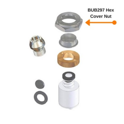 Enware BUB297 Hex Cover Nut Suit BUB290 Drinking Bubbler