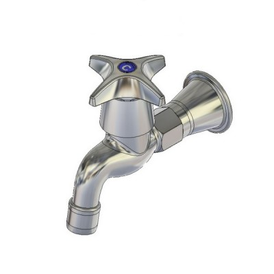 Enware CS Bib Tap Female 50mm Extended Aerated Jumper Valve CS322F