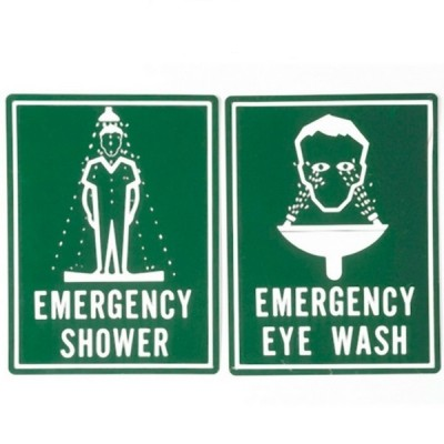 Enware ESS505 600 X 450 Colourbond Combination Shower Eye Wash Sign