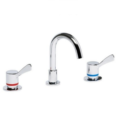 Enware Leva Basin Set 80mm With SPC001 Fixed Spout 1/4 Turn LEV80306