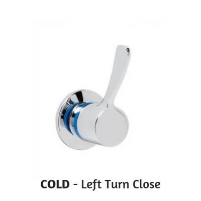 Enware Leva Recess Adaptor 80mm 1/4 Turn COLD Left Close LEV80308LTC