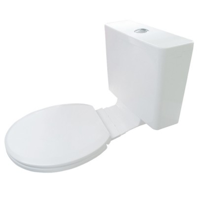 Everhard Kuga White Plastic Link Cistern & Soft Close Seat