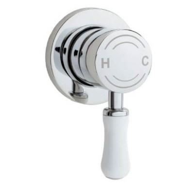 Ewing Hampton Shower Bath Mixer White Chrome MX241W