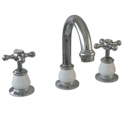 Ewing Pasadena Basin Set Chrome / White Bell 5 Star 6L/Min TPA05W