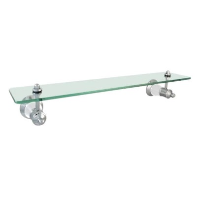 Ewing Pasadena Glass Shelf 500mm Chrome / White Bell BAA34W
