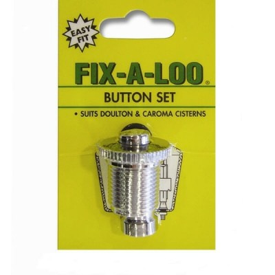 Fixaloo Cistern Button Single Flush Chrome Suits Caroma 209825