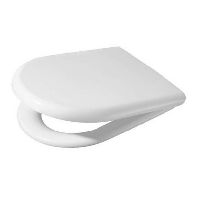 Fowler Newport Toilet Seat White Soft Close Stainless Hinges 813007W