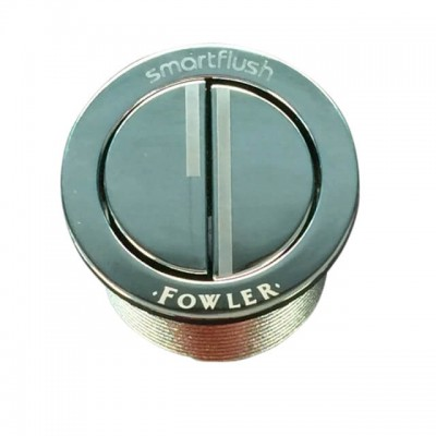 Fowler Round Toilet Cistern Button & Bezel Chrome 800287C