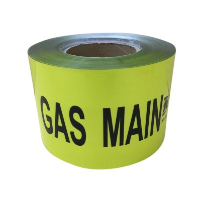 Gas Warning Tape 100mm X 100m Detectable