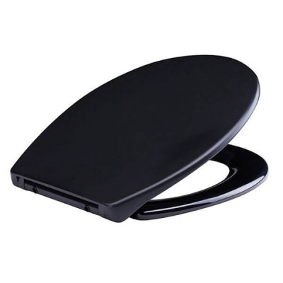 Haron Sable Matte Black Toilet Seat Slow Close Quick Release Hinges TS-1980