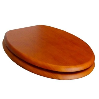 Haron TS-8600CP Pine Veneer Timber Toilet Seat Slow Close With Bottom Fix Hinges