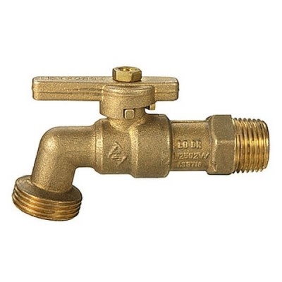 Hose Bib Brass Male Lever Quarter Turn 15mm