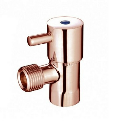 Mini Cistern Stop Quarter Turn Lever Rose Gold