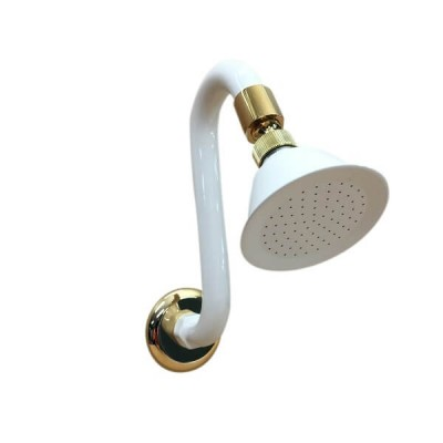 Mini Swan Shower Arm & Rose 75mm Ivory Gold PP4345