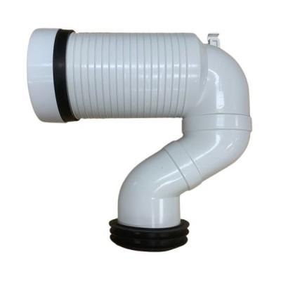 Pan Connector Offset Adaptor Bend 150mm-255mm JT43