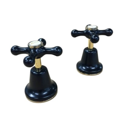 Parade Basin Top Assembly Matt Black Gold Ceramic Disc CEC300BG