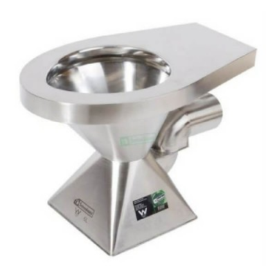 Pedestal Toilet Pan P Trap Stainless Steel WC-SSPP