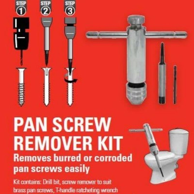Plumtool Pan Screw Remover With Drill Bit PTPS586